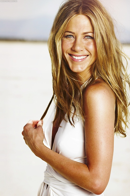 Jennifer Aniston- love her girl next door look and the down to earth attitude she seems to have. I've loved her since Friends.