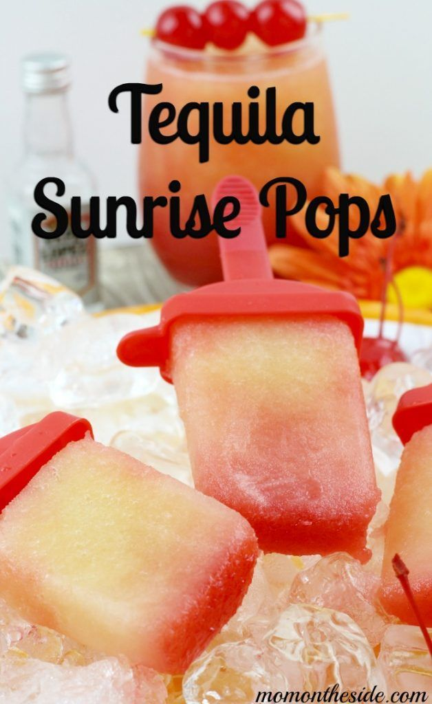 Tequila Sunrise Pops take a fun cocktail and turn it into a dessert! (msg for 21+)