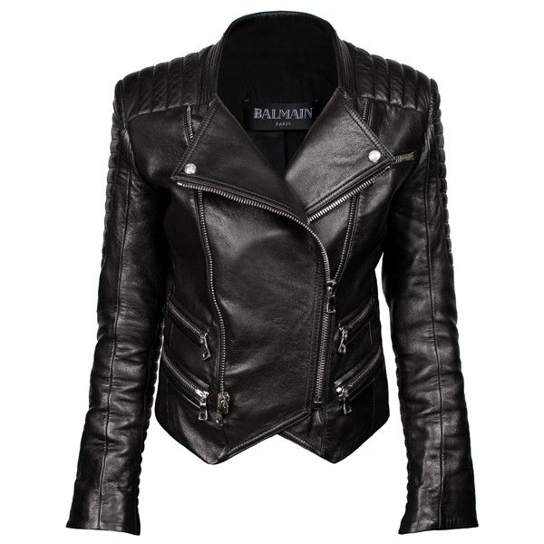 BALMAIN Leather Jacket Black - obsessed with jacket since forever. Buy it for me now