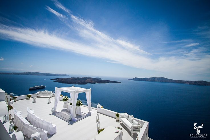 Cliff Top Perfection, Dana Villas, Santorini - No wedding for us, but our room was right underneath this area.