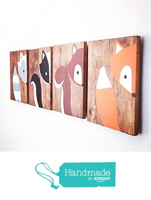 10x14 Set of 4 Woodland Animal Nursery Signs Nursery Decor Baby Shower Gift or Baby Décor nursery accessories from Amber's Wooden Boutique https://smile.amazon.com/dp/B016Z4Z41O/ref=hnd_sw_r_pi_dp_m-zvzb3DB9NPF #handmadeatamazon
