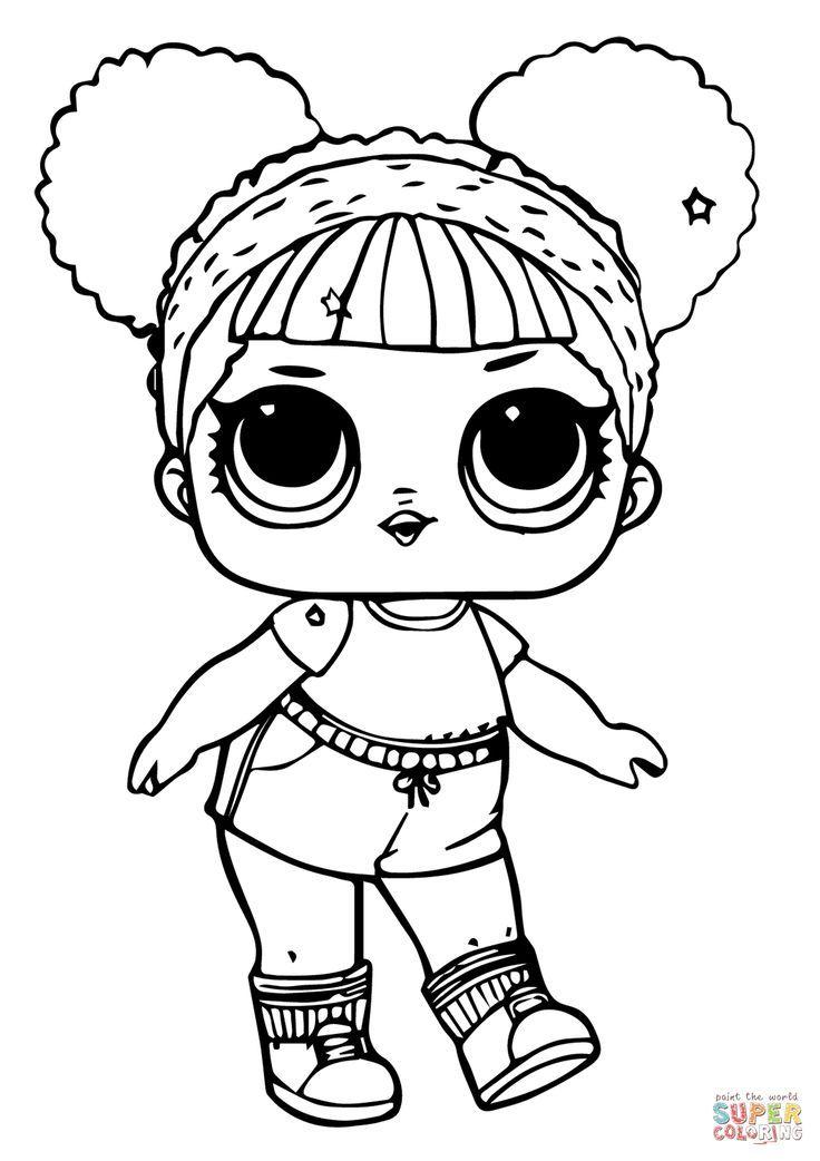 Lol Doll Hoops Mvp Glitter Coloring Page Free Printable Coloring Pages Coloriage Livre De Couleur Poupees Lol