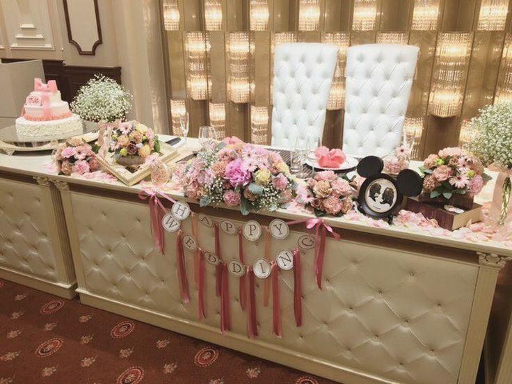 【会場装飾】テーマカラーは「ピンク×ホワイト」の可愛らしい結婚式♡