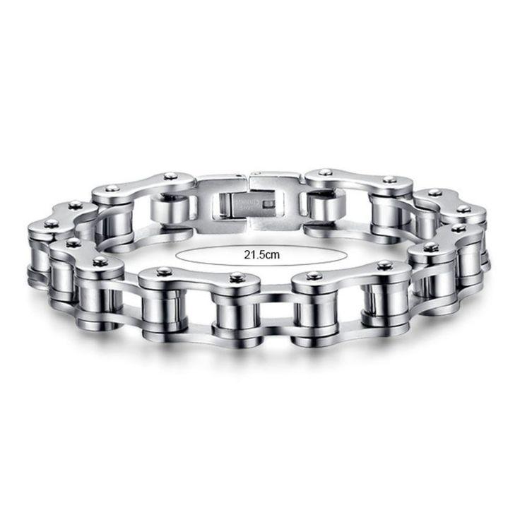 Bike Chain Stainless Steel Bracelet 8.5inch