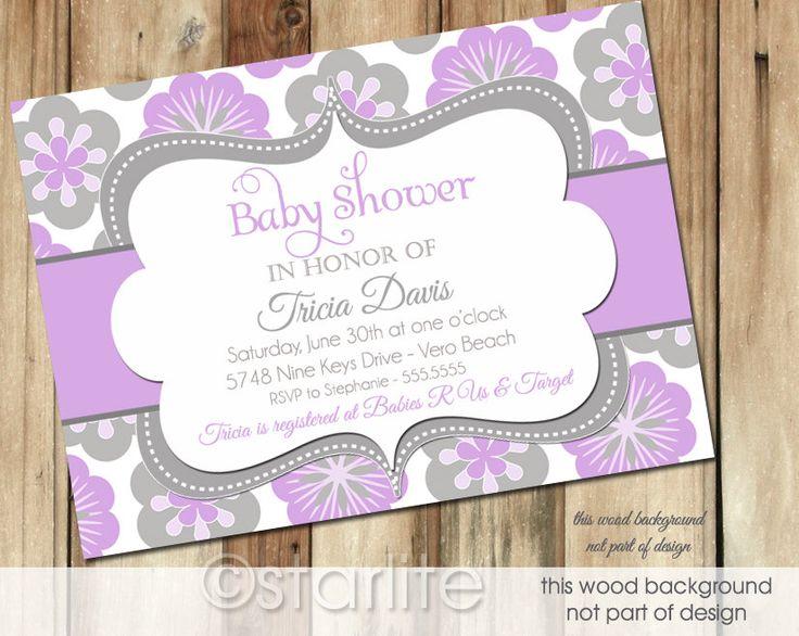 Marvelous Lavender Baby Shower Invitations Part - 13: Lavender Baby Shower Invitations - Google Search