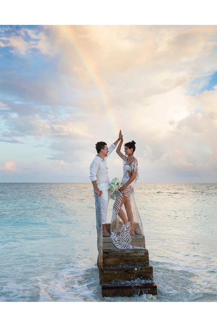 beach wedding south west uk%0A Isabeli Fontana wedding album  Maldives