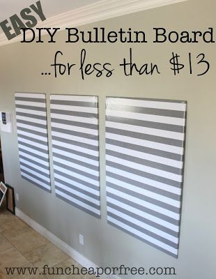 The bulletin board of all bulletin boards...DIY for less than $12! (...and its GIANT!)