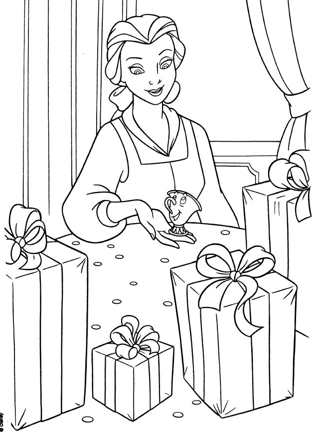 Disney Princesses Belle Coloring Pages And For Kids Graphic Sheets