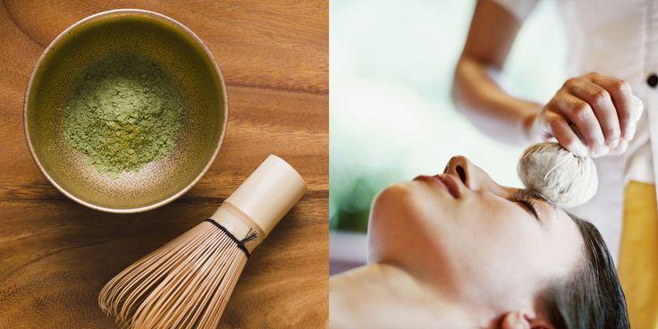 Il tè verde non è solo la bevanda rinfrescante nazionale: le donne arabe riempiono dei sacchettini in tela leggera con le foglie macerate e lo passano su tutto il corpo dopo l'hammam. Aiuta a mantenere la pelle morbida, elastica e combatte la cellulite.  -cosmopolitan.it