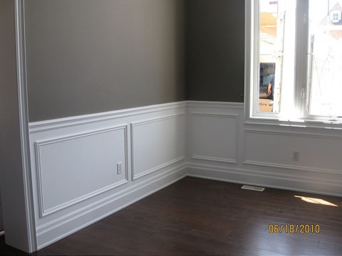 Wall paneling is cool and cheap way to fill an empty space