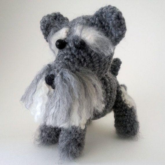 Crochet dog. Crochet amigurumi dog.  Miniature by LilCuddles