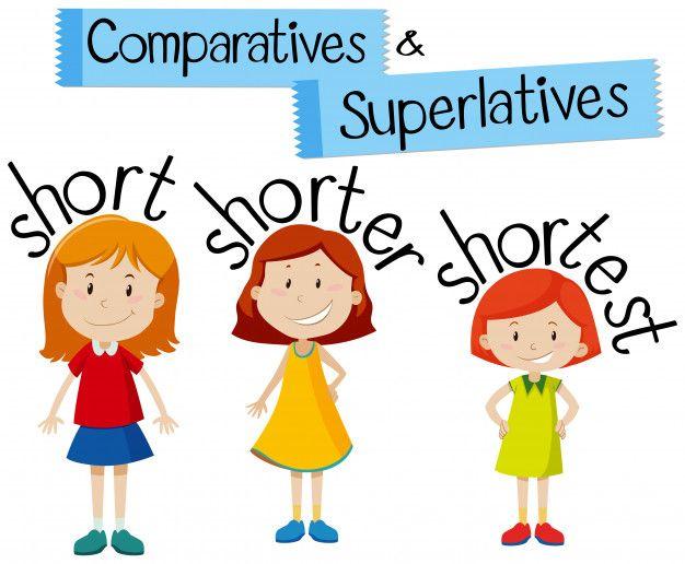 Comparativas Y Superlativos Para Palabras Cortas Comparativos Y Superlativos Comparativos En Ingles Ingles Para Preescolar