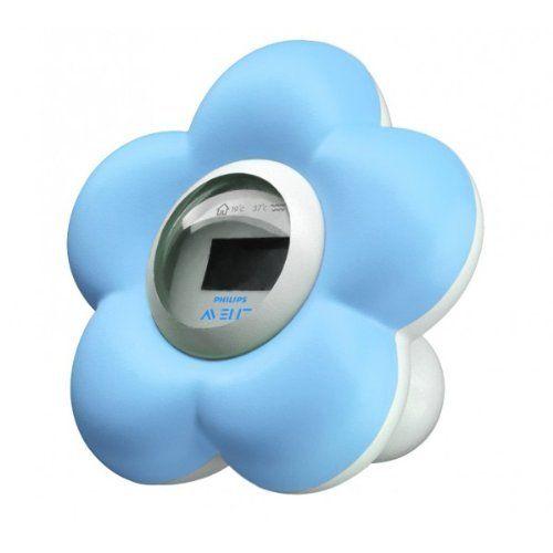 Philips Avent Thermomètre Numérique – Bain + Chambre – Norme Jouet: Flotte sur l'eau Ce thermomètre numérique mesure la température du bain…
