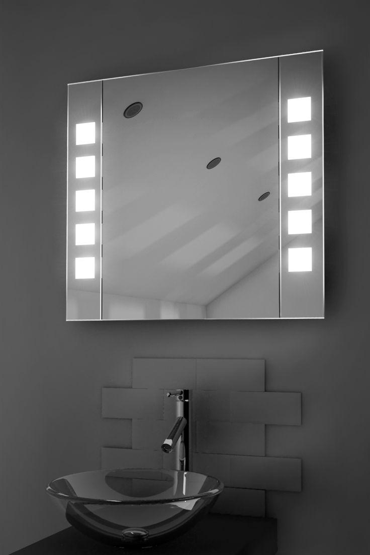 Heated bathroom mirrors - Noble Sensor Cabinet Medium H600mm X W650mm X D140mm Illuminated Mirrors