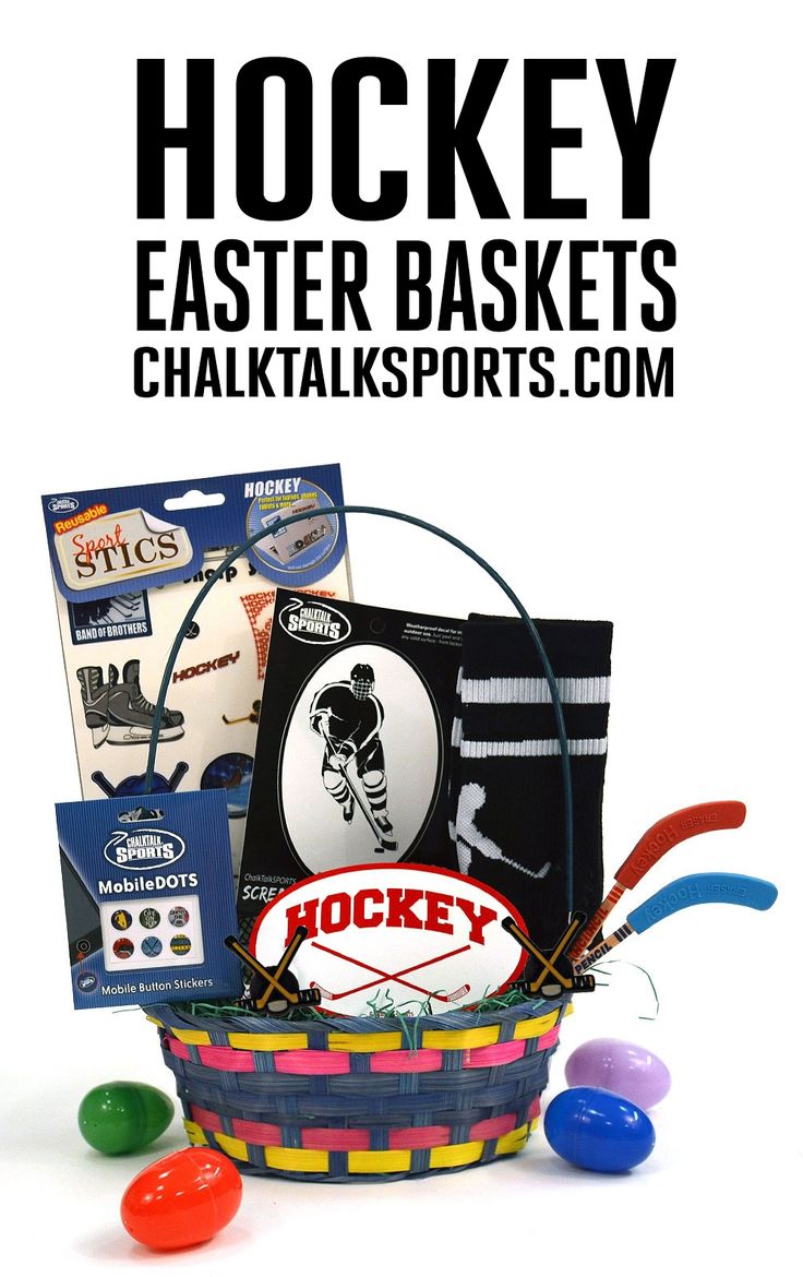 Easter is less than two weeks away! Surprise your favorite hockey player with an Easter basket filled with hand-picked hockey goodies from ChalkTalkSPORTS.com! Your athlete will love this basket that includes comfy hockey apparel, our MobileDOTS for your iPhone or iPad, decor, and more!