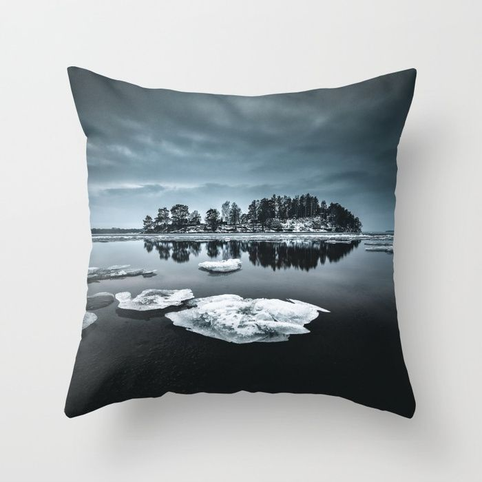 Only pieces left Throw Pillow by HappyMelvin. #naturephotography #winter #ice #fineart #photography #homedecor #pillows