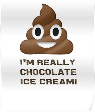 Wait! I really Chocolate Ice Cream Funny poop emoji emoticon graphic tee shirt