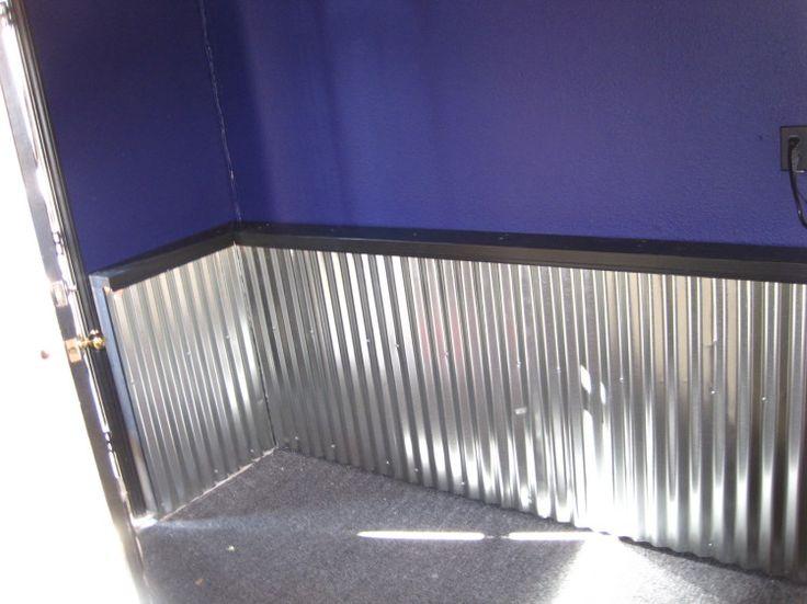 Corrugated Steel On Walls Adding A Corrugated Metal