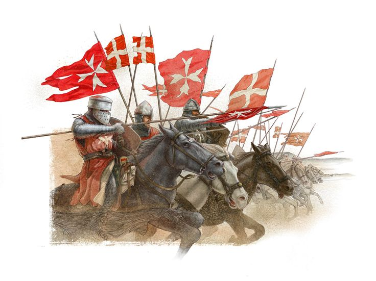 Hospitaller knights charge - by Claudio Prati