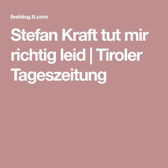 Stefan Kraft tut mir richtig leid | Tiroler Tageszeitung