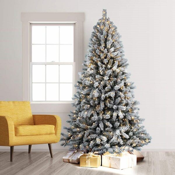 19 Best Flocked Fake Christmas Trees 2021 Absolute Christmas Christmas Tree Inspiration Fake Christmas Trees Christmas Tree
