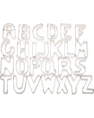 Stainless Steel Alphabet Cookie Cutter Set