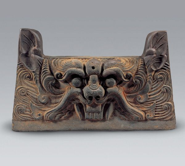 [Antiquity-Three Kingdoms Period(Silla)] Roof Tile with Beast Design