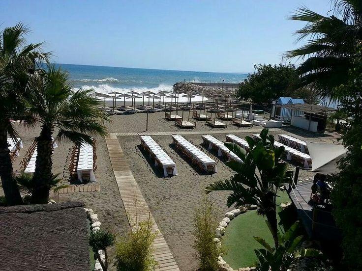 Buenas vistas, ¿verdad? :) #playa #mediterraneo #malaga #restaurantes