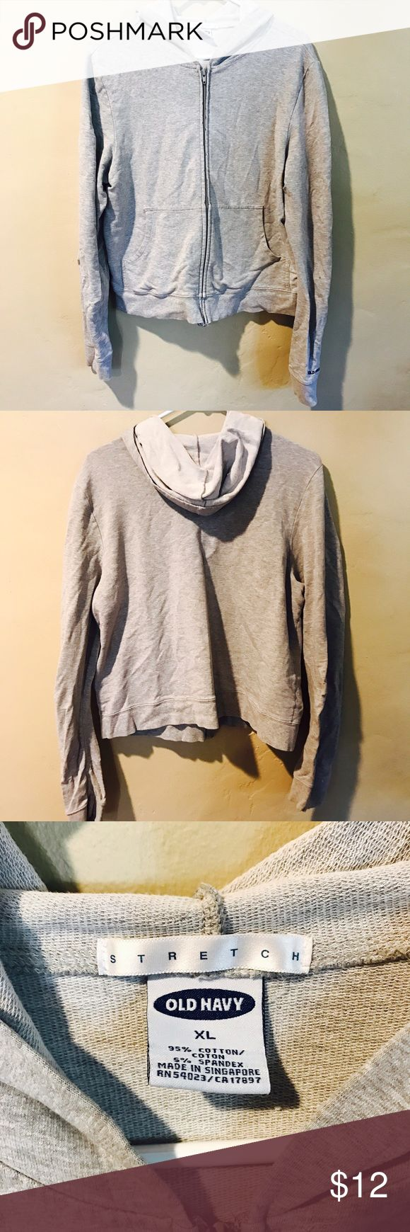 Old Navy Zip Up Grey Hoodie Old Navy Zip Up Grey Hoodie. Women's XL but fits M-L Old Navy Tops Sweatshirts & Hoodies