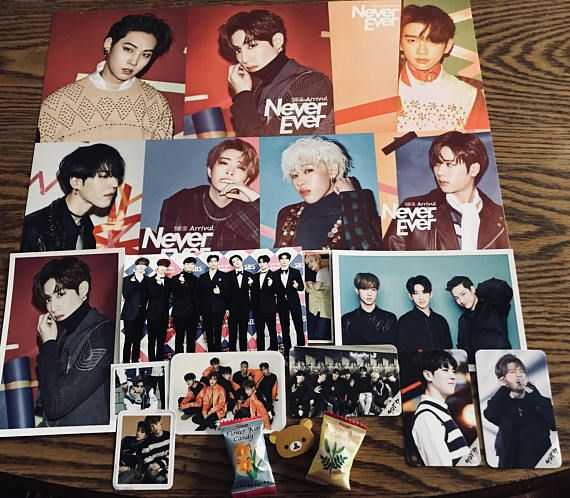 Kpop Goodie bags are theme based on the KPOP group Got7 each bag will include a random selection of variety items such as: 1 Random Poster, 3 Random Photo Cards/Message Cards, 3-4 Random Stickers, 2 Random Photos, 1-2 Postcards, Random Stationary Item #got7 #igot7 #kpop #music #bags #etsy #shop