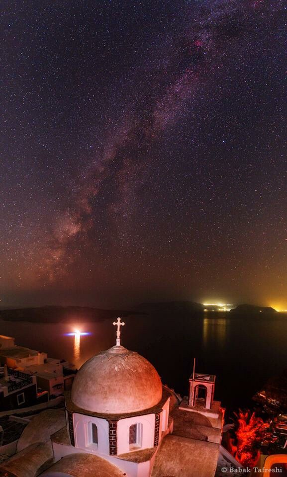 Milky Way Santorini Greece