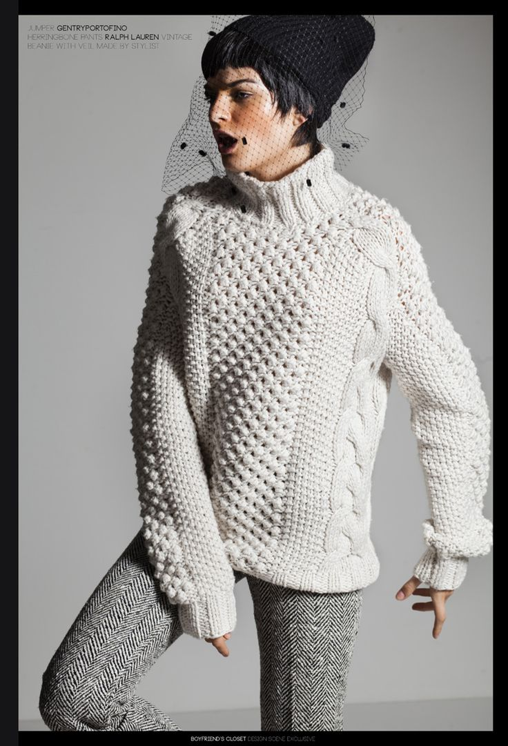 Sweater love (Boyfriend's Closet: Svetla S by Daniele Rossi and Emily Lee for Design Scene)
