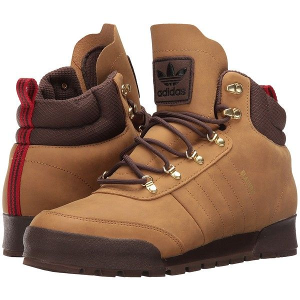 adidas Skateboarding Jake Boot 2.0 (Mesa/Brown/Gum) Men's Lace-up... ($81) ❤ liked on Polyvore featuring men's fashion, men's shoes, men's boots, brown, mens lace up boots, mens boots, mens rugged boots, mens brown lace up shoes and mens brown lace up boots