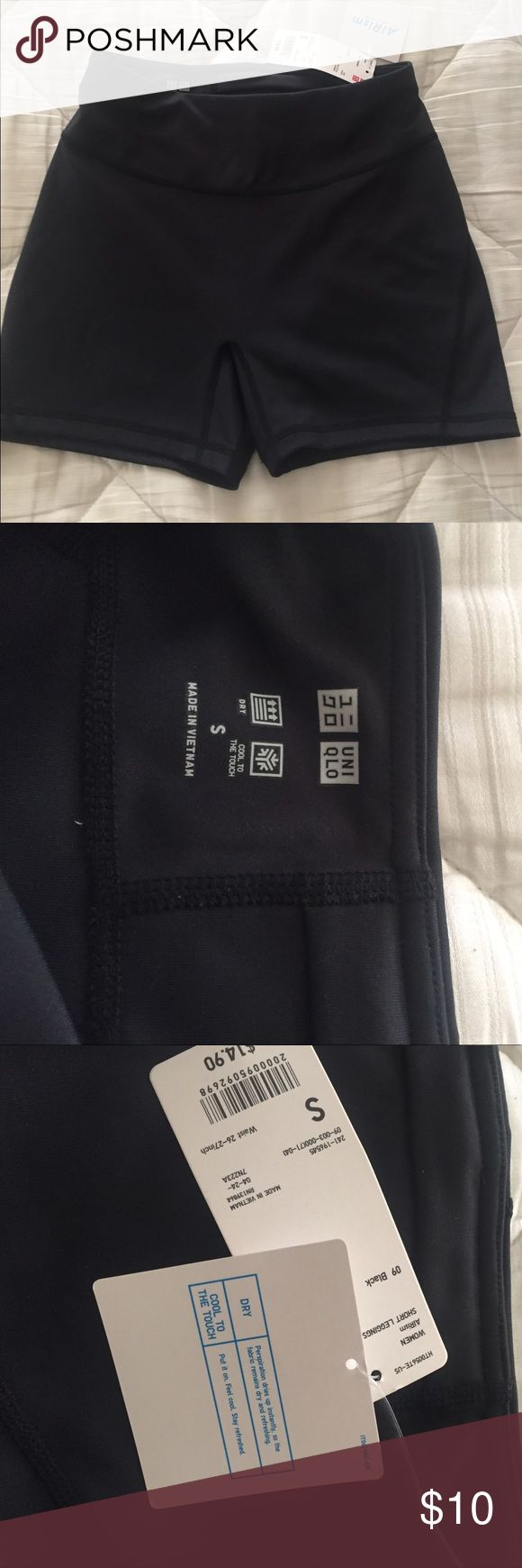 NWT uniqlo airism shorts black Bought these and don't like how they fit me. They are high wasted and super light. Uniqlo Shorts