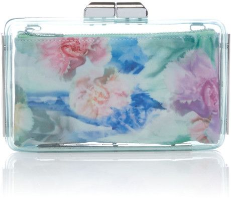Love this: Mini Multi Coloured Clear Clutch Bag  TED BAKER LONDON DRESSMESWEETIEDARLING