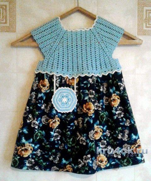 Вязаное платье для девочки. Работа Юлии Ковалевой вязание и схемы вязания