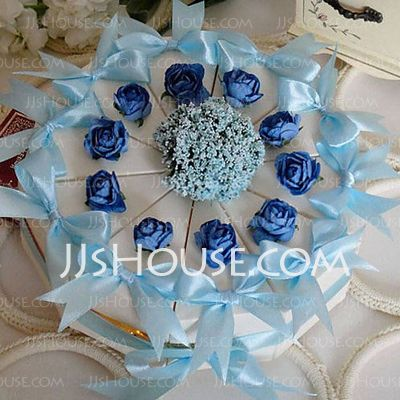 Favor+Holders+-+$7.99+-+Cupcake+Wrapper+and+Boxes+With+Flowers+Ribbons+(Set+of+10)+(050024704)+http://jjshouse.com/Cupcake-Wrapper-And-Boxes-With-Flowers-Ribbons-Set-Of-10-050024704-g24704