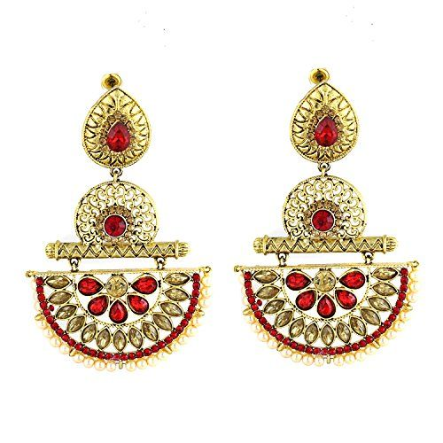 Indian Bollywood Designer Red Stone Gold Plated Dangle & ... https://www.amazon.com/dp/B01N16QZ9W/ref=cm_sw_r_pi_dp_x_PLcLybSV2BRS9
