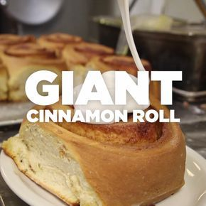 Restaurant vs. Homemade Giant Cinnamon Roll