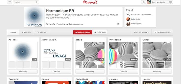 Jeden z fajniejszych profili  prowadzonych przez agencje PR http://www.pinterest.com/harmoniquepr/