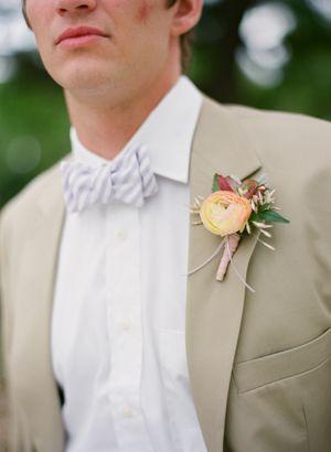 Wedding tie - peachy boutonniere | Eric Kelley #wedding