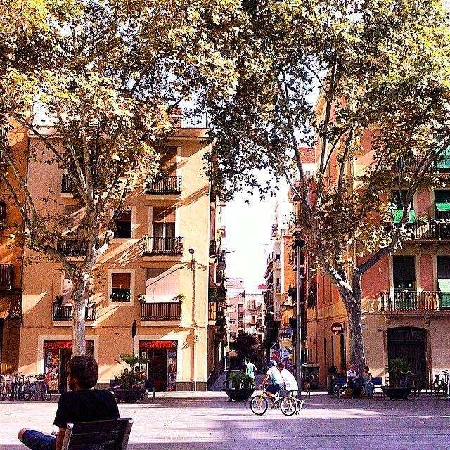 Plaça del Diamant (Barrio de Gràcia) - Barcelona, Spain