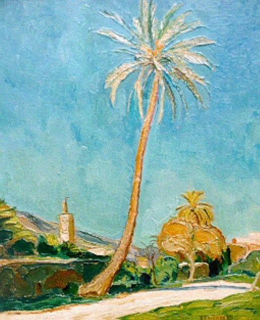 'Dirk' Herman Willem Filarski (Amsterdam 1885-1964 Zeist) Landschap bij Fès, Marokko - Kunsthandel Simonis en Buunk, Ede (Nederland).
