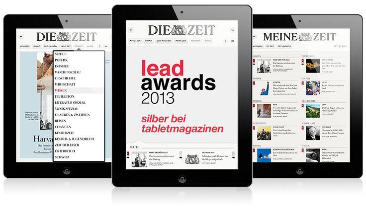 Lead Award in Silber für die ZEIT-iPad-App