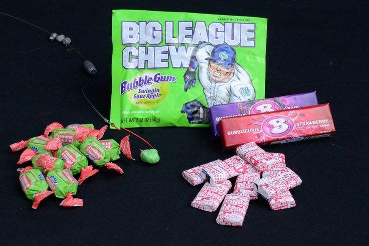 Green apple bubble gum has a strong flavor that instantly appeals to catfish. Channel catfish, with their evolved sense of smell are the prime catch.   Read more: http://www.gameandfishmag.com/fishing/catfish/10-secret-catfish-baits-didnt-know/#ixzz43UbtvQGt