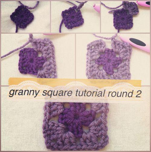 Crochet Granny Square Photo Tutorial: Squares Photo, Granny Squares Patterns, Crochet Granny Squares, Cootiebug Crochet, Tutorials Pictures, Method Photo Tutorials, Blankets, Crafts Knits Crochet, Granny Square Patterns