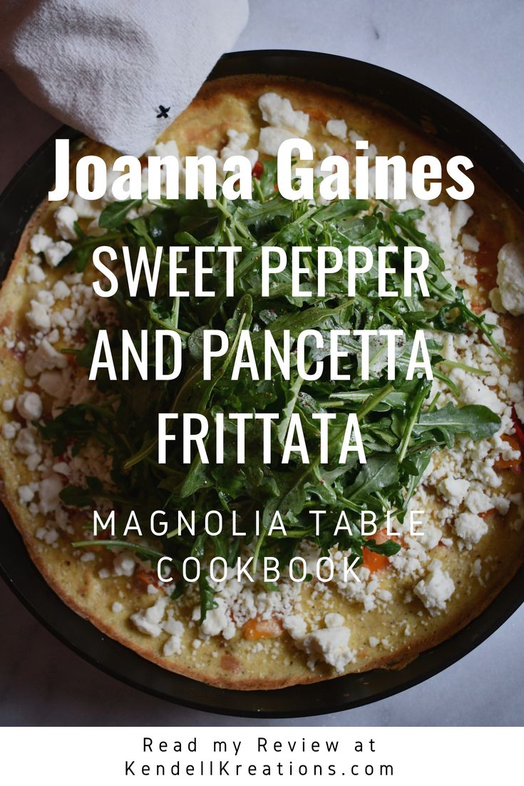 Sweet Pepper And Pancetta Frittata A Quick And Easy Brunch With