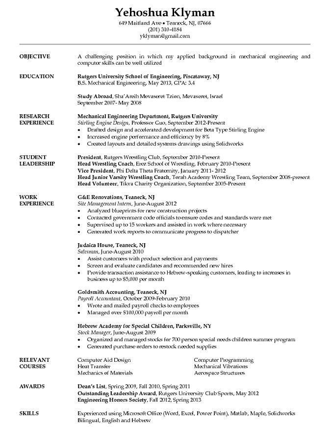 Engineering Student Resume Student Resume Student Resume Template Engineering Resume Templates