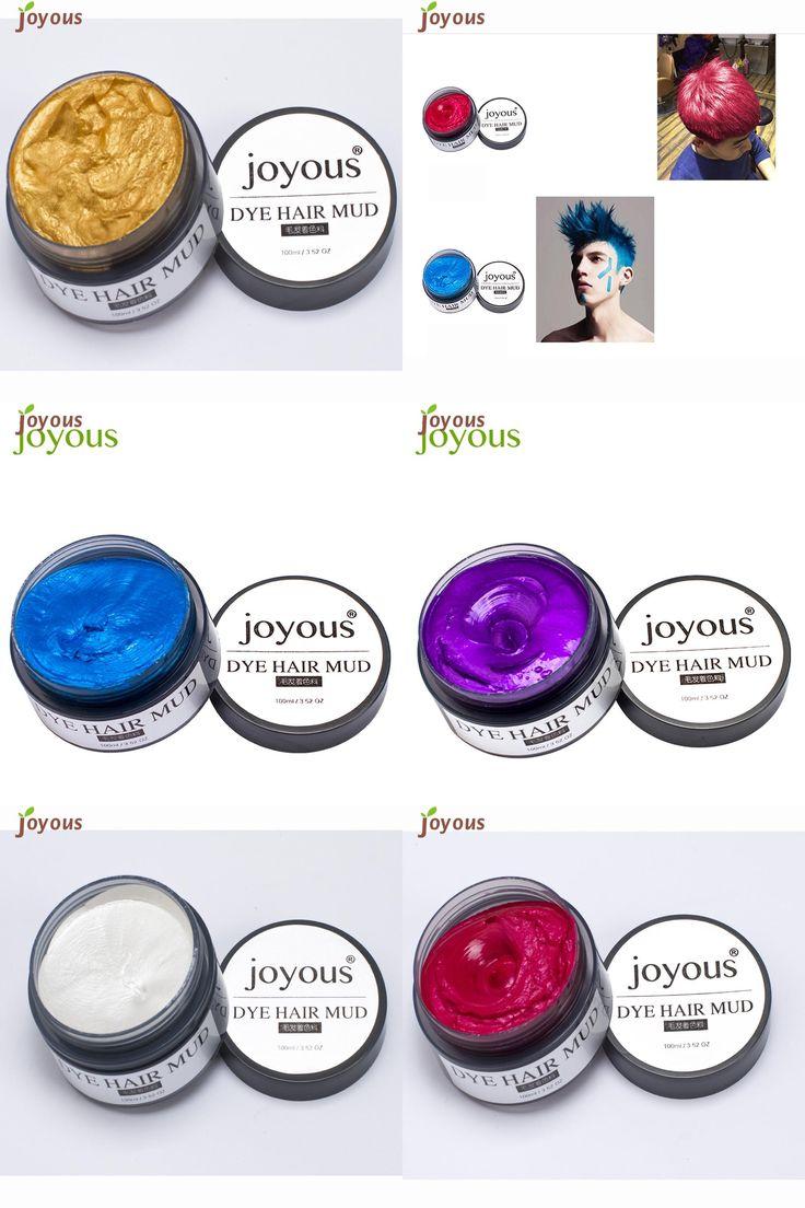 [Visit to Buy] Joyous One-time Dye Hair Dye Hair Spray Mud Cream Men's Hair Dye Disposable g6824 #Advertisement