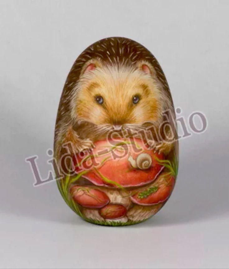 Hedgehog with Snail- Lida's Studio